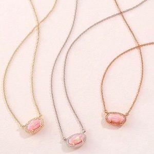 Kendra Scott Ember Light Pink Opal Necklace